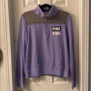 VS Pink Half-Zip Pullover